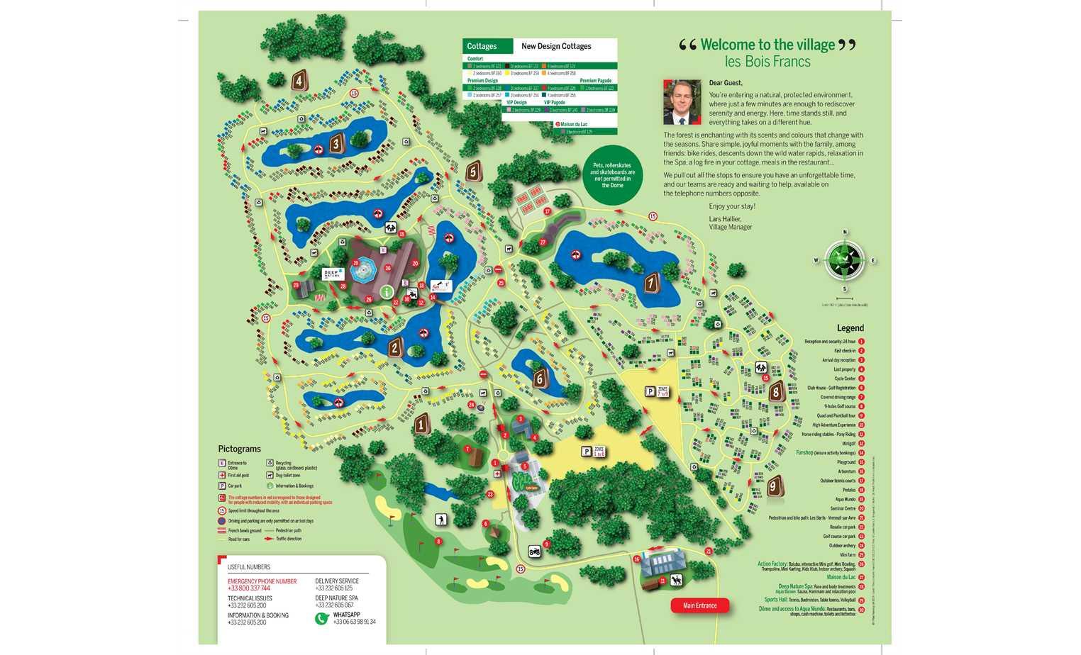 Center Parcs Les Bois Francs Plan