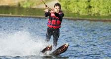 Water-skiing at Center Parcs De Kempervennen